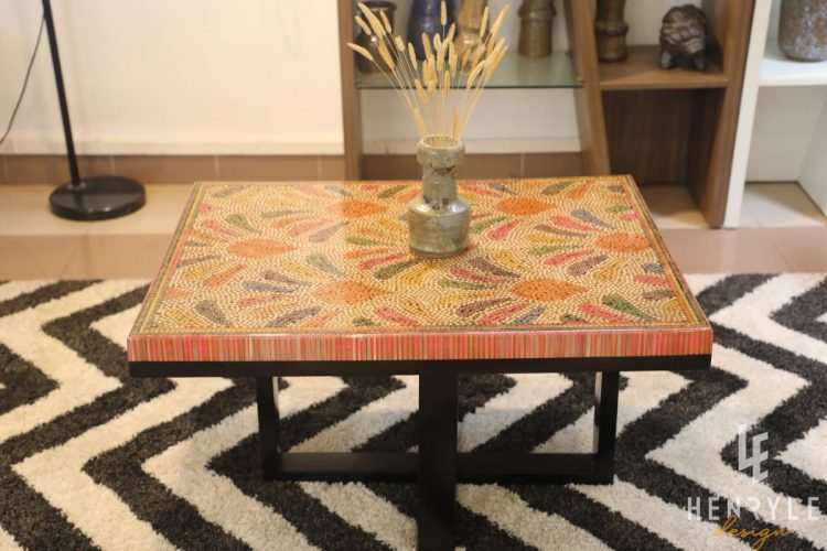 Blooming Fireworks Colored Pencil Coffee Table 4