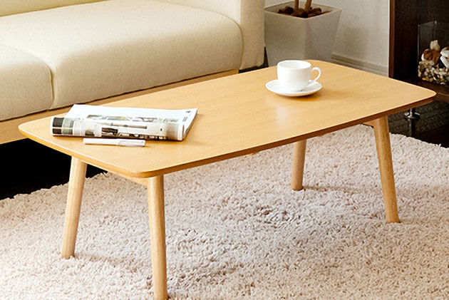 Coffee Table with Rounded Edges, Unique tea table