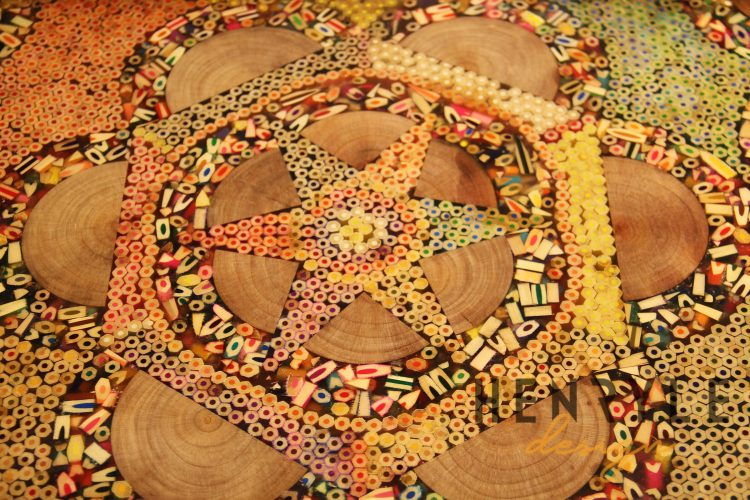 Aura of the Star Colored-Pencil Coffee Table