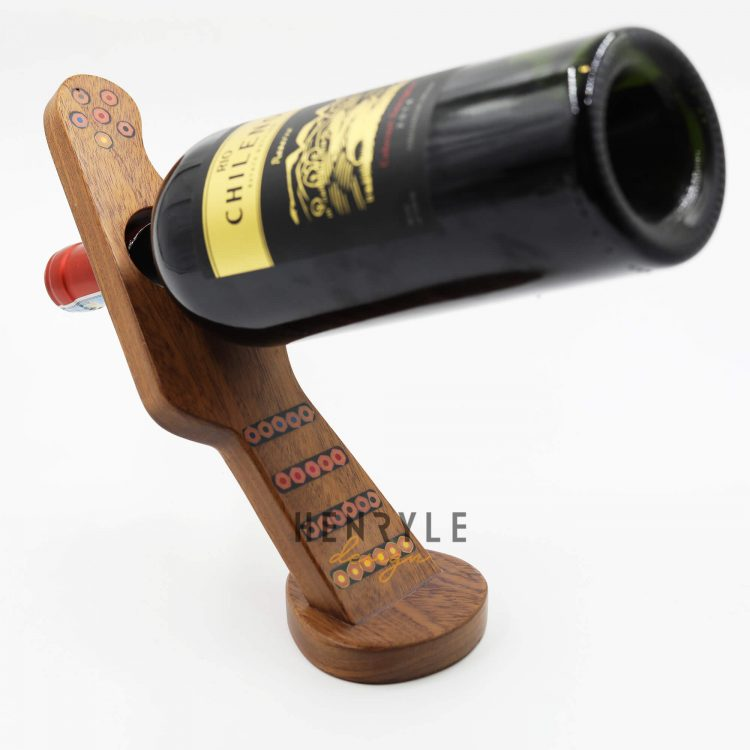 Colored Pencil Balance Guitar Wine Bottle Holder