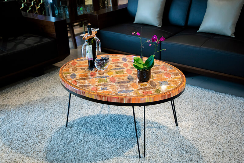 Colored Pencil Coffee Tables Designed by Henry Le