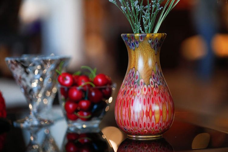 Decorative Peacock Vase 2