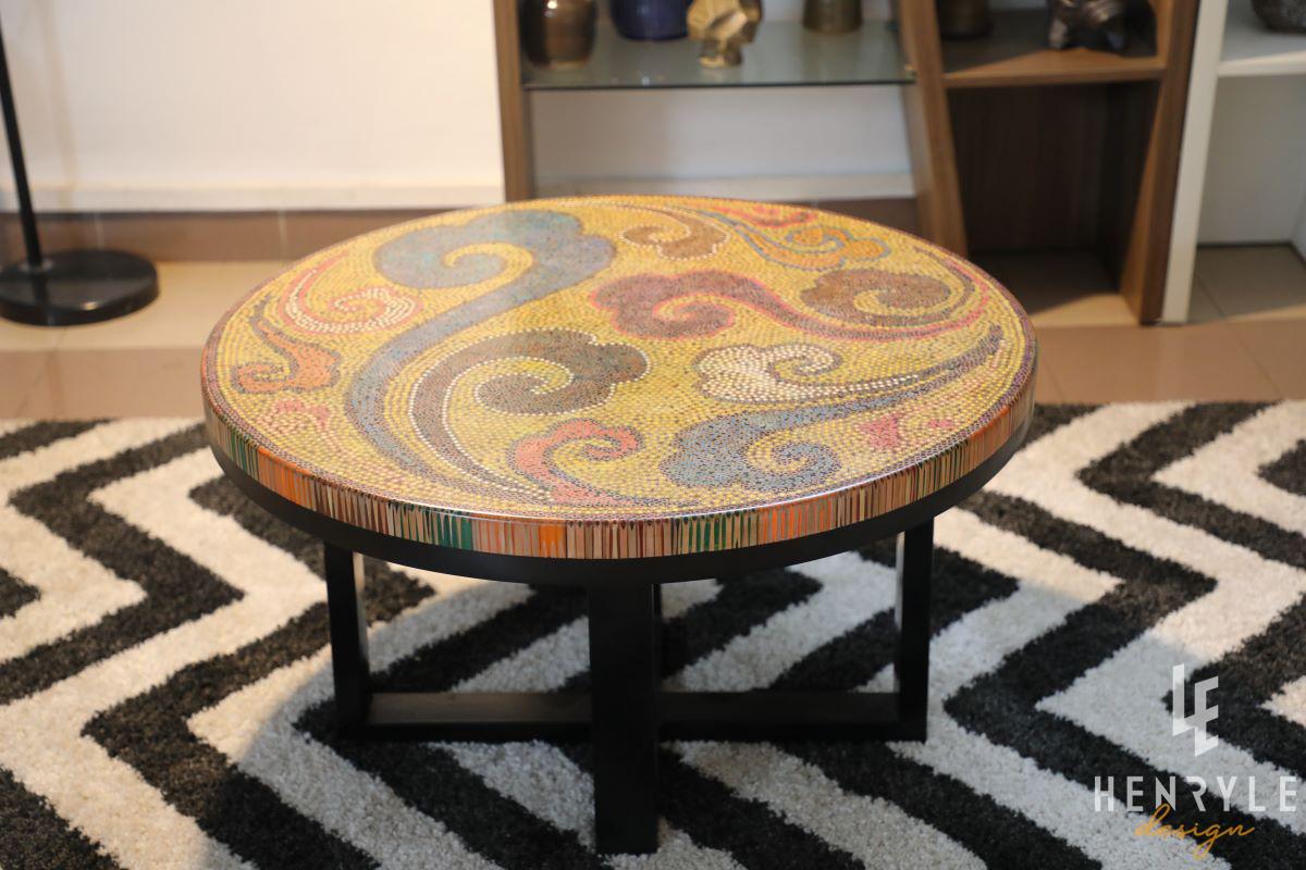 Elysium II Colored-Pencil Coffee Table 1