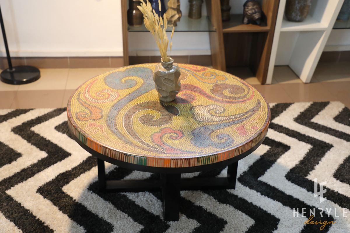 Elysium II Colored-Pencil Coffee Table 4