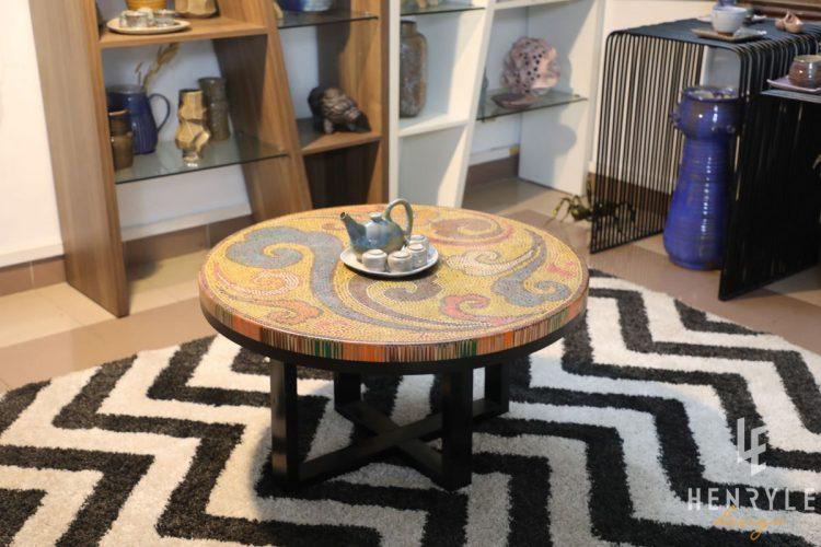 Elysium II Colored-Pencil Coffee Table 5