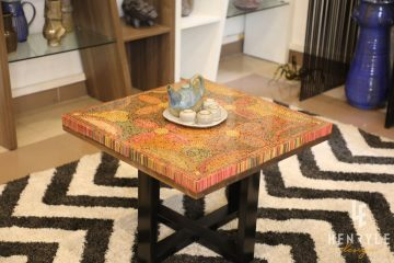 Five Blooms Colored-Pencil Coffee Table 8