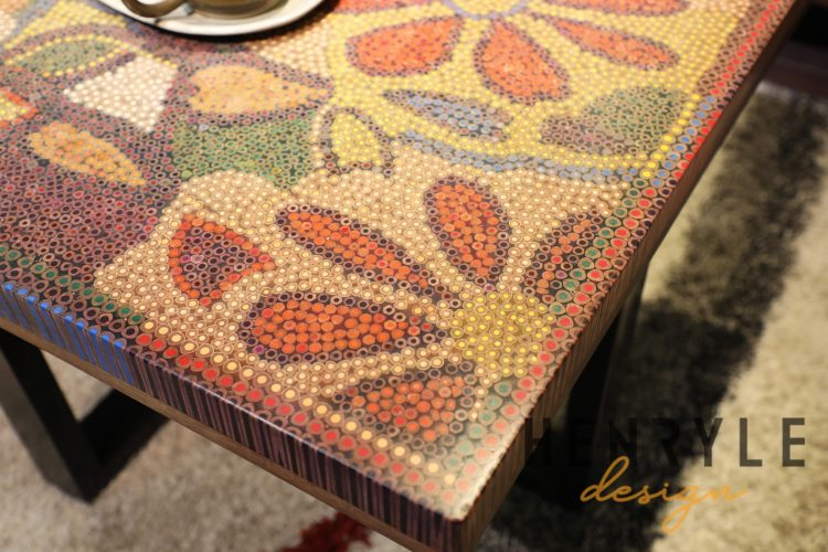 Floral Life Colored Pencil-Coffee Table