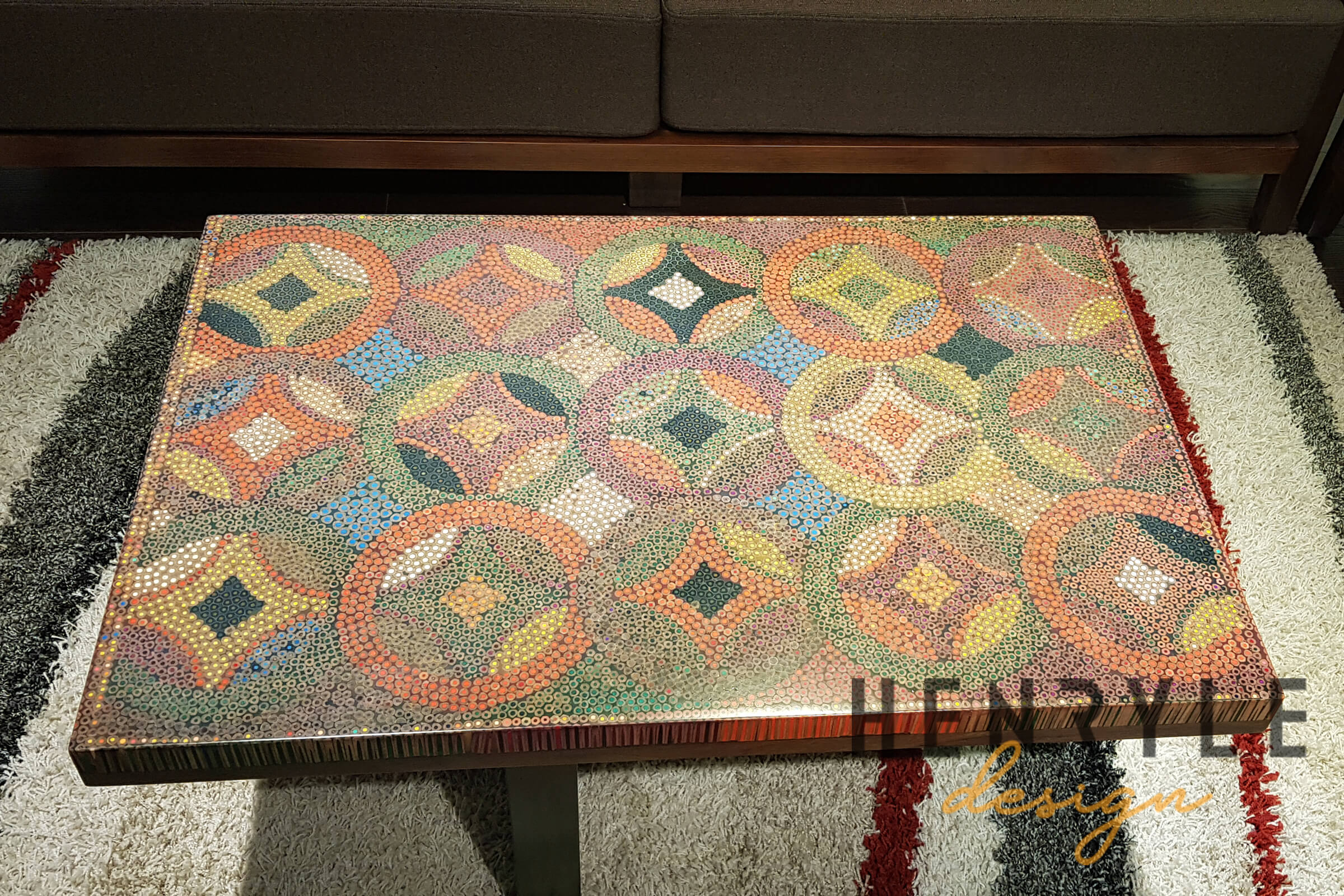 Flow of Property Colored-Pencil Coffee Table