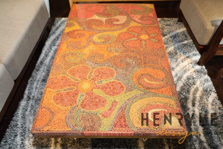 Garden of Eden Colored-Pencil Coffee Table