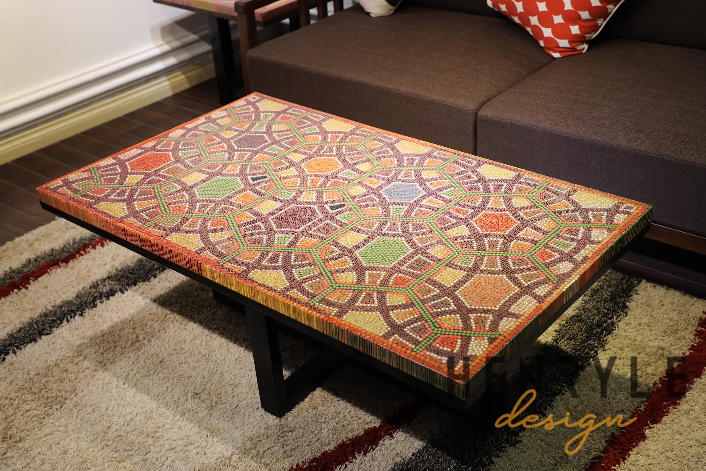 - Infinity & Beyond Colored-Pencil Coffee Table - Unique Coffee Tables