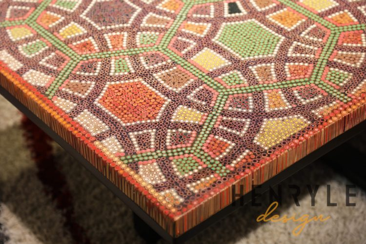 Infinity & Beyond Colored-Pencil Coffee Table