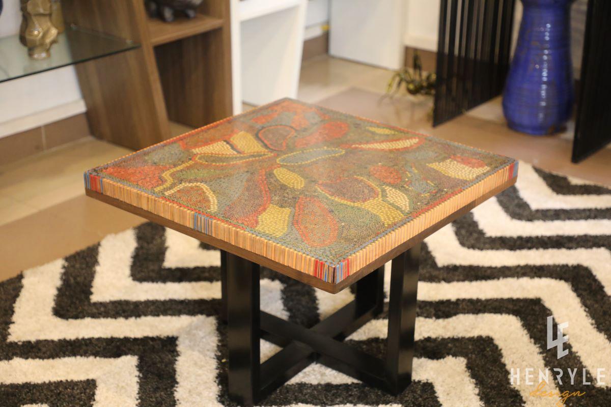 Lotus Pond Colored-Pencil Coffee Table II 2