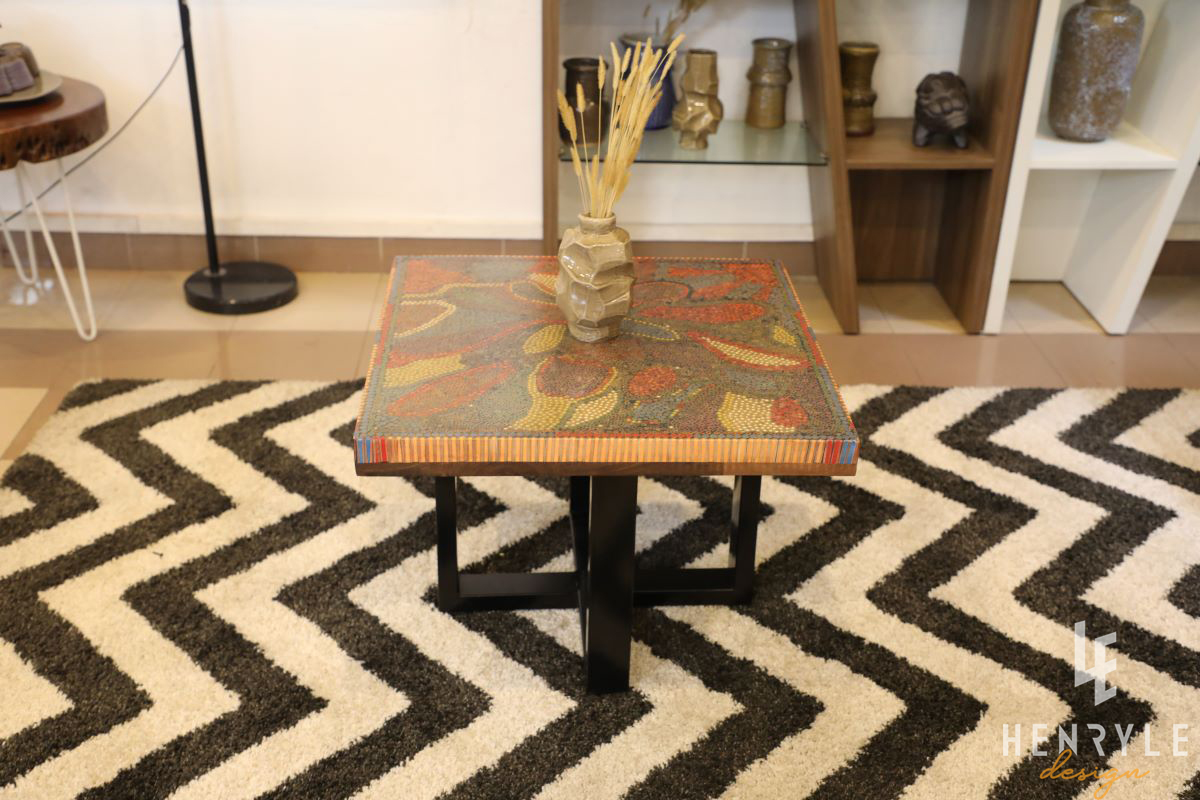 Lotus Pond Colored-Pencil Coffee Table II 5