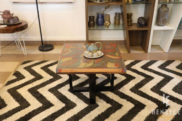 Lotus Pond Colored-Pencil Coffee Table II 6
