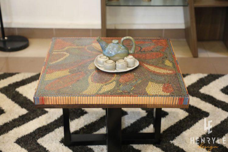 Lotus Pond Colored-Pencil Coffee Table II 7