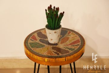 Lotus Pond Colored-Pencil Coffee Table IV 1