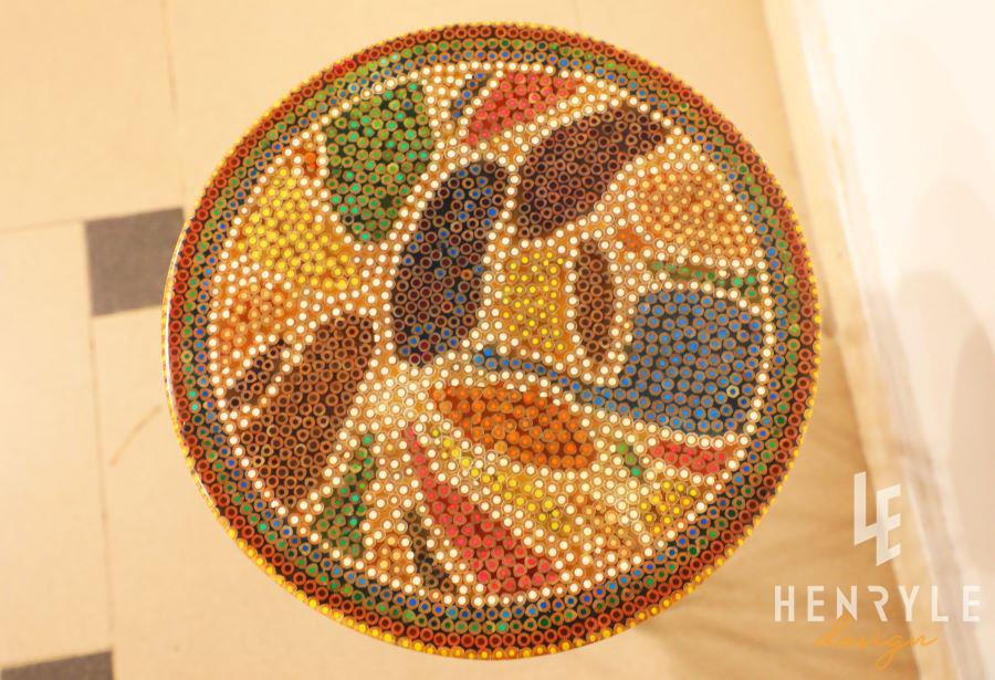 Lotus Pond Colored-Pencil Coffee Table IV 2