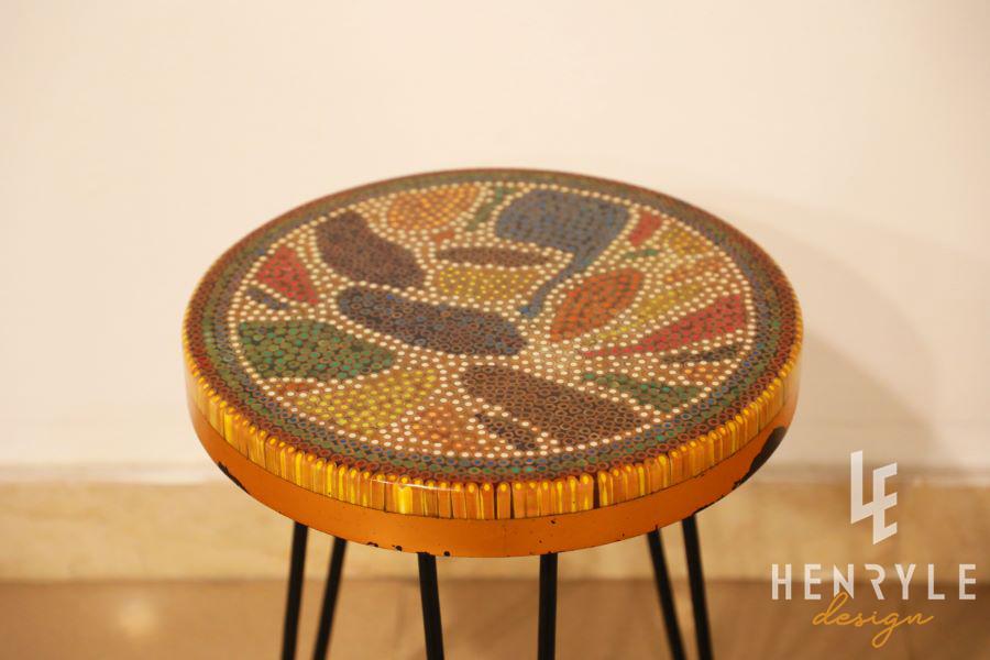 Lotus Pond Colored-Pencil Coffee Table IV 4