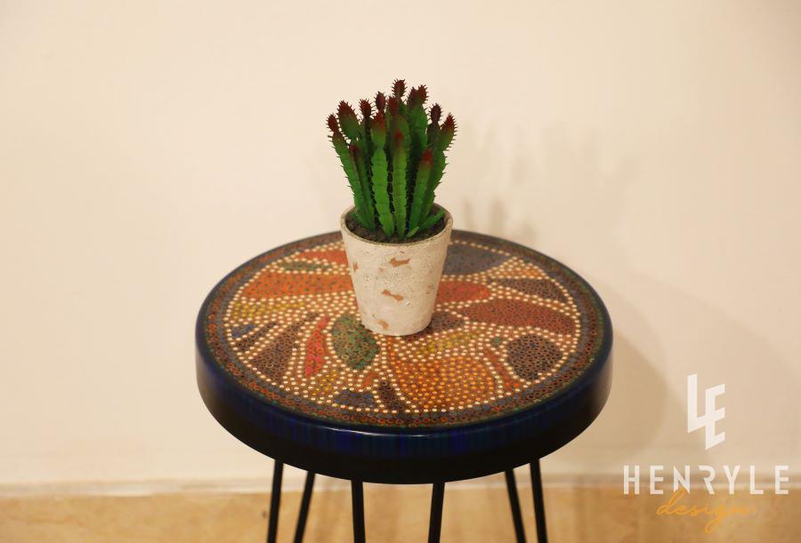 Lotus Pond Colored-Pencil Coffee Table V 1