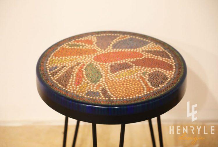 Lotus Pond Colored-Pencil Coffee Table V 3