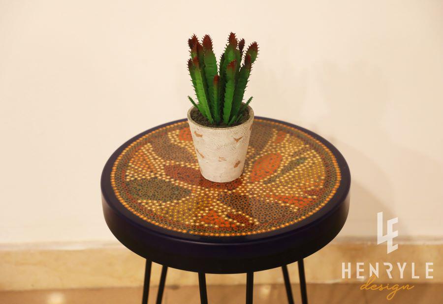 Lotus Pond Colored-Pencil Coffee Table VI 2
