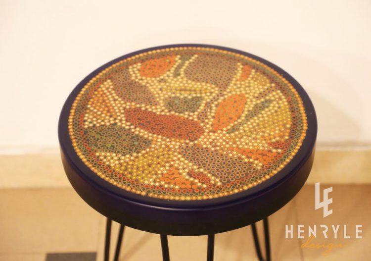 Lotus Pond Colored-Pencil Coffee Table VI 3