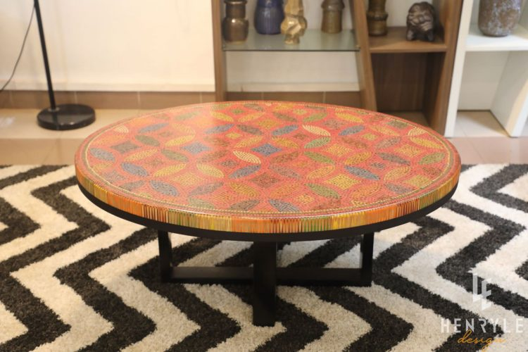 Lucky Coins Colored Pencil Coffee Table III 2