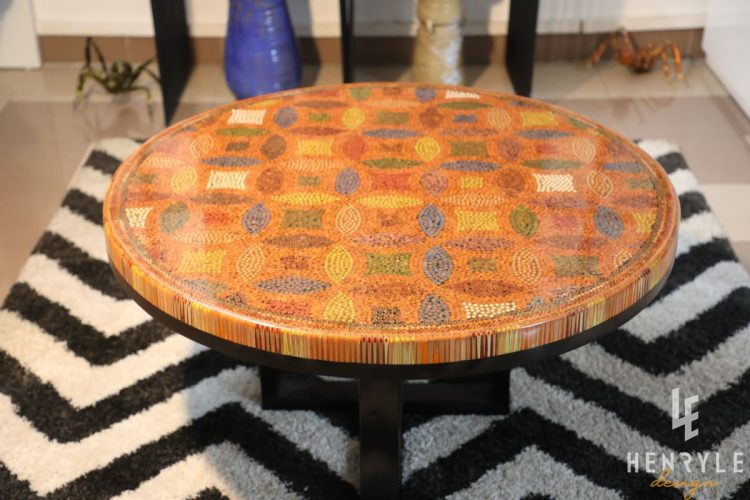Lucky Coins Colored Pencil Coffee Table IV 2