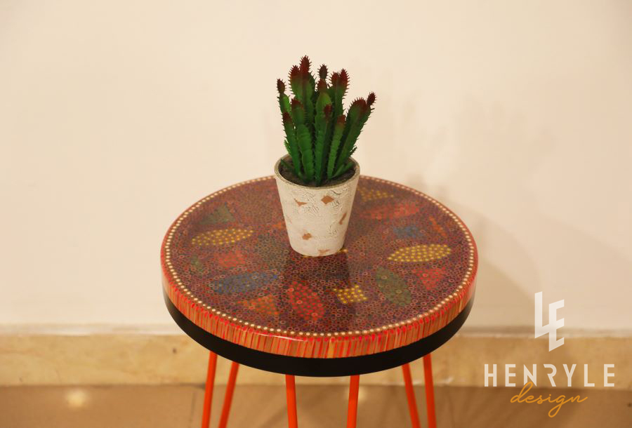 Lucky Coins Colored-Pencil Coffee Table VI 1