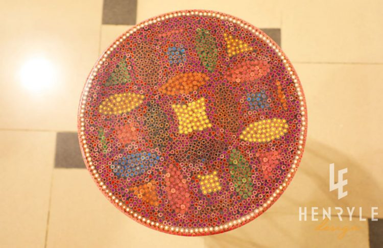 Lucky Coins Colored-Pencil Coffee Table VI 2