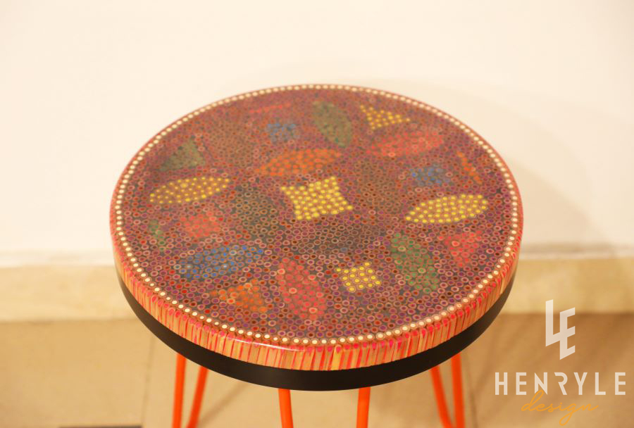 Lucky Coins Colored-Pencil Coffee Table VI 3