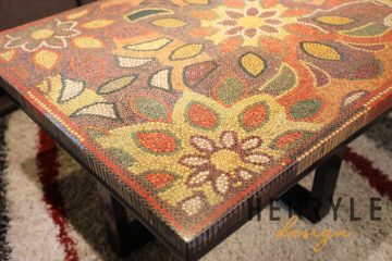 Melody of Mother Nature Colored-Pencil Coffee Table