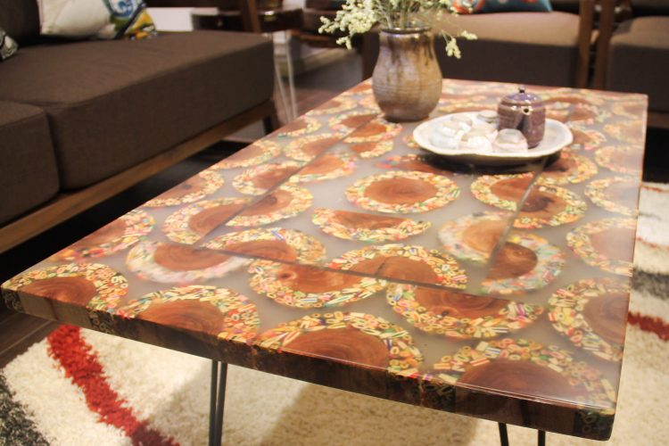 Mountain Woodland Colored-Pencil Coffee Table