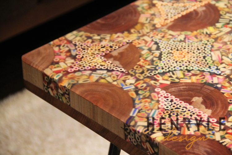 Puzzling Slices of Life Colored-Pencil Coffee Table