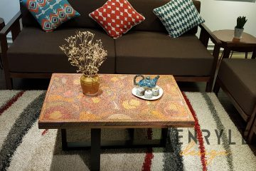 Rose Garden Colored-Pencil Coffee Table I