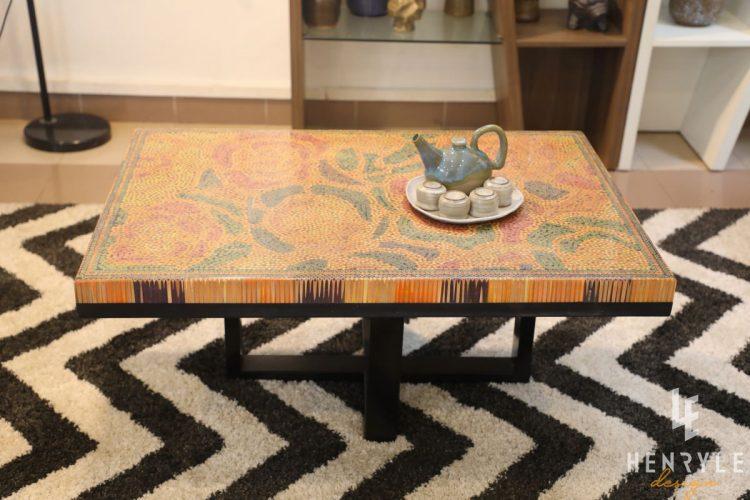 Rose Garden Colored-Pencil Coffee Table III 6