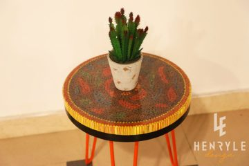 Rose Garden Colored-Pencil Coffee Table IV 1