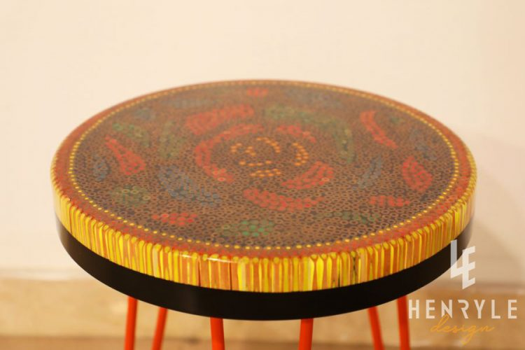 Rose Garden Colored-Pencil Coffee Table IV 2
