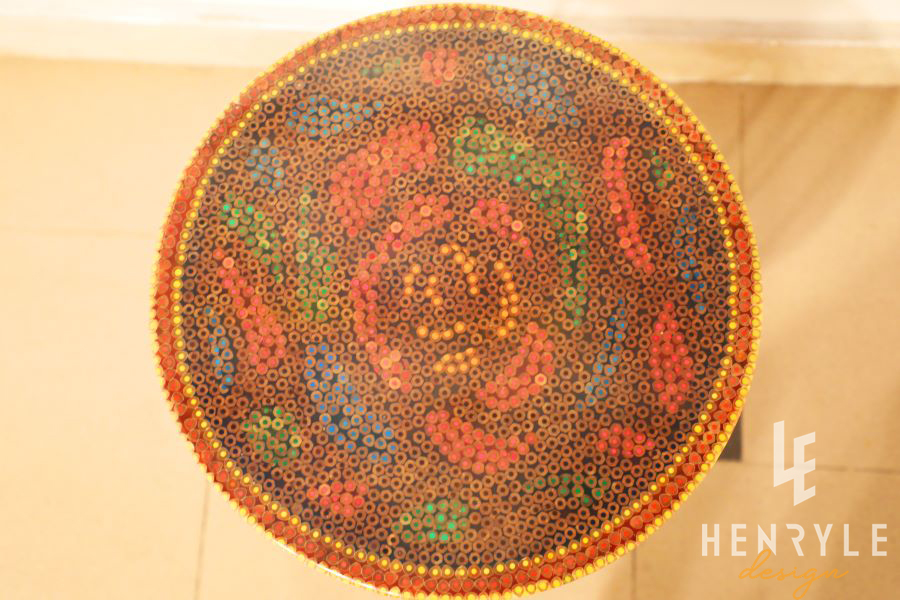 Rose Garden Colored-Pencil Coffee Table IV 3