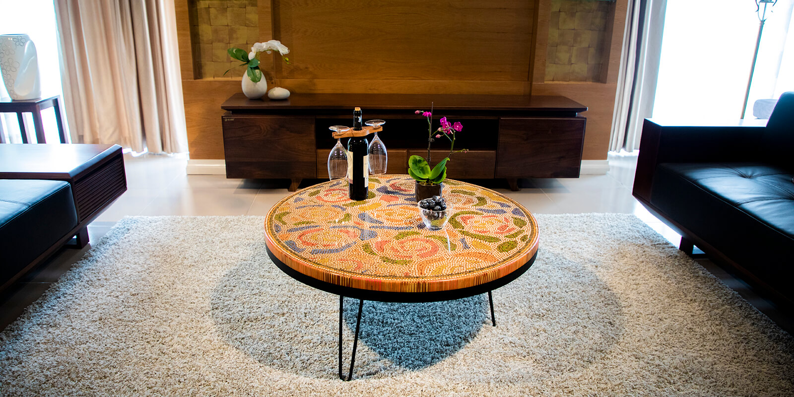Round Unique Coffee Tables designed by Henry Le