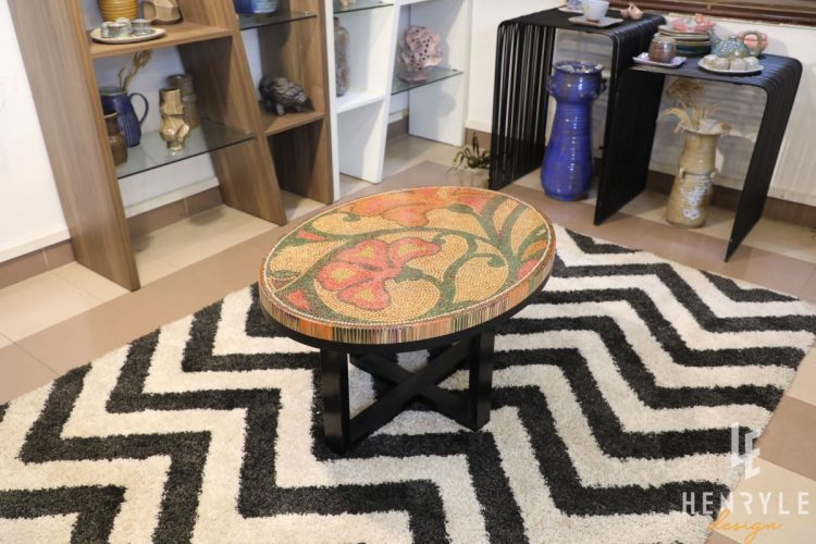 Single Curves Colored-Pencil Coffee Table 4