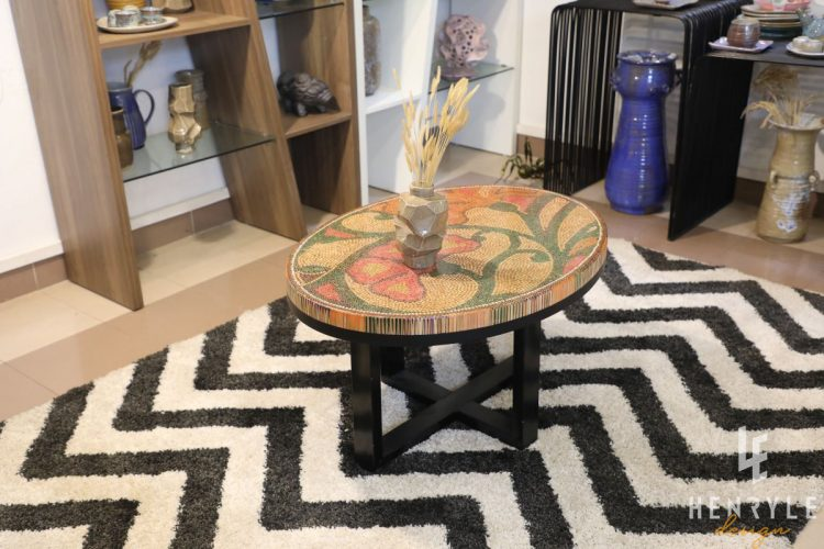 Single Curves Colored-Pencil Coffee Table 5