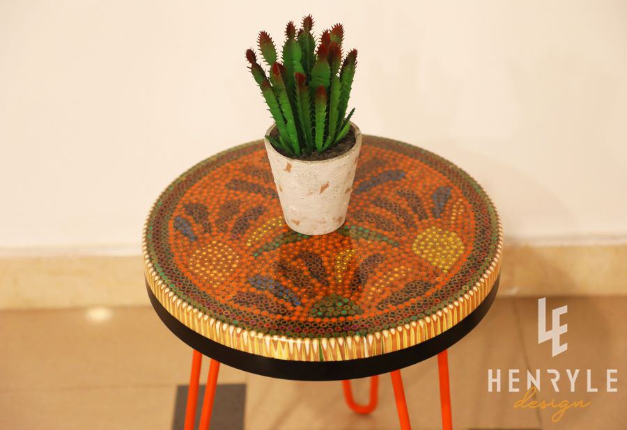 Spring Buds Colored Pencil Coffee Tables III 1