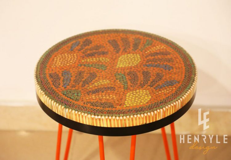 Spring Buds Colored Pencil Coffee Tables III 3