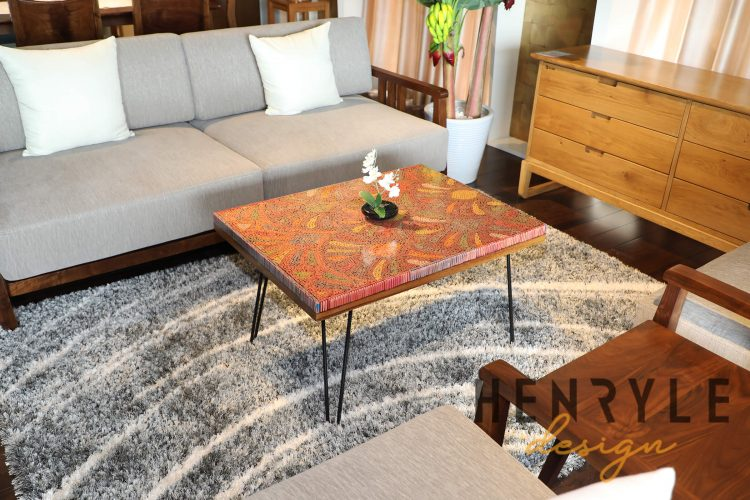Spring Buds Colored Pencil Coffee Table