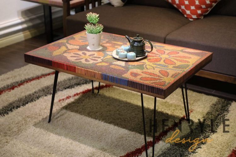 The Floral Life Colored Pencil Coffee Table 1