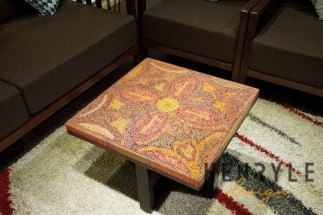 The Jungle Flame Colored Pencil Coffee Table 4