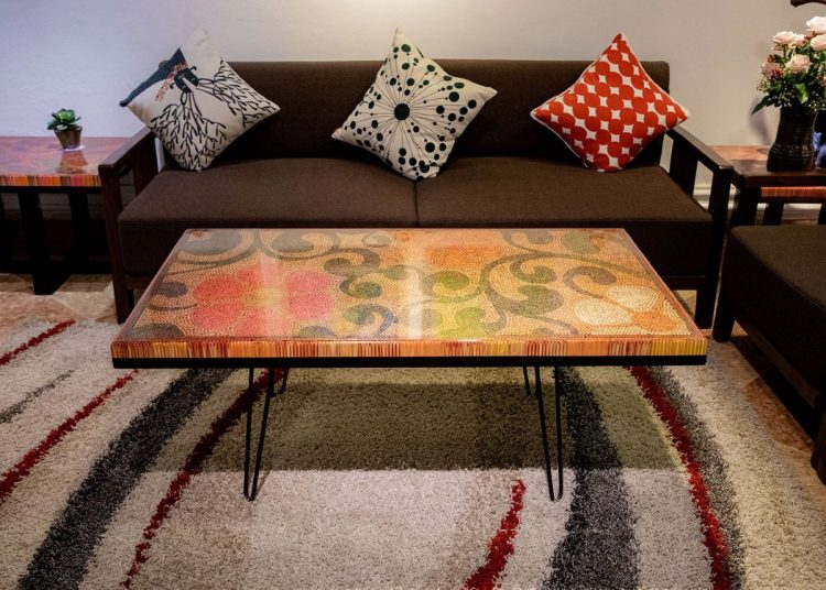 The Spring Day Colored Pencil Coffee Table