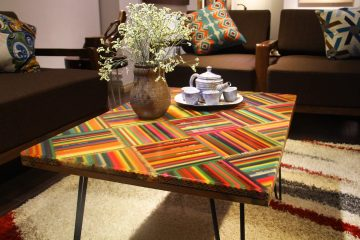 The Whimsy of Life Colored-Pencil Coffee Table