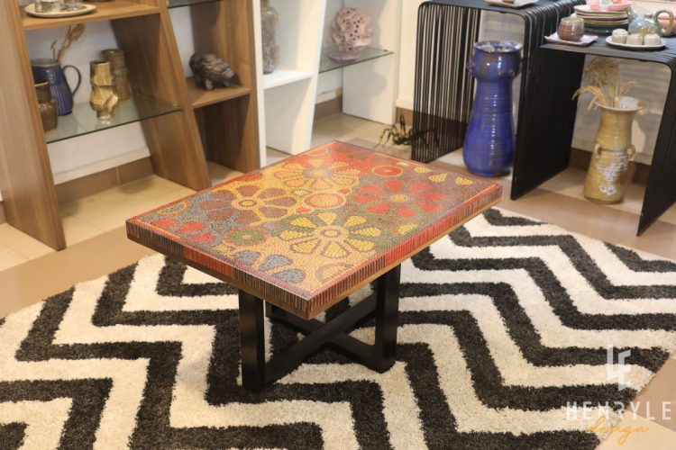 Wild Cosmos Flower Colored-Pencil Coffee Table 7